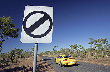 Open speed limit australia